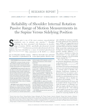 reliability of internal rotation passive range of motion pdf form