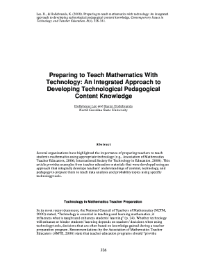 preparing to teach mathematics with technology torrent form