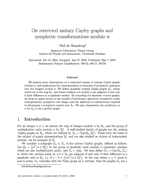 On restricted unitary Cayley graphs and symplectic transformations ... - combinatorics