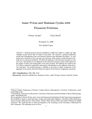 Asset Prices and Business Cycles with Financial Frictions - sabanciuniv