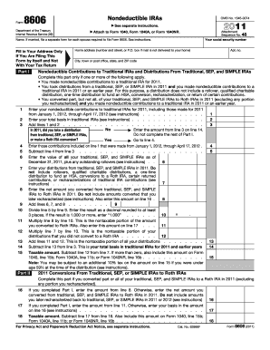 Irs Form 8606 - Fill Online, Printable, Fillable, Blank | PDFfiller