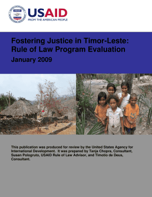 Fostering Justice in Timor-Leste: Rule of Law Program ... - USAID - pdf usaid