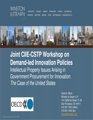 Joint CIIE-CSTP Workshop on Demand-led Innovation ... - OECD - oecd