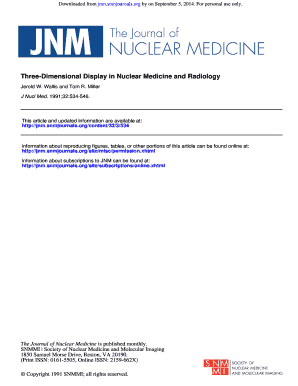 Three-Dimensional Display in Nuclear Medicine and Radiology - jnm snmjournals