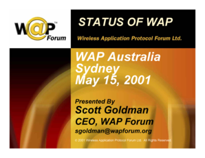 Title Slide - WAP Forum - wapforum