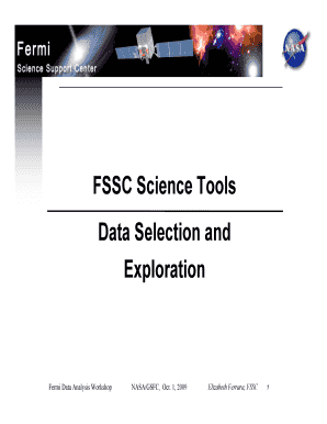 FSSC Science Tools Data Selection and Exploration - fermi gsfc nasa