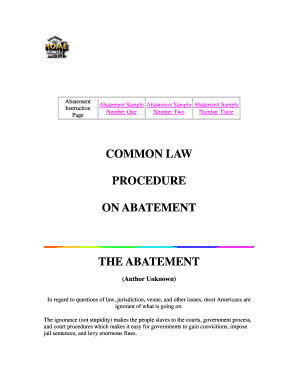 abatement form