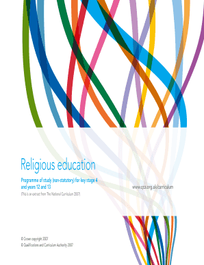 Programme of study (non-statutory) for - The Religious Education ...