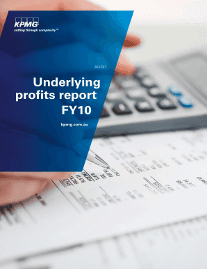 Underlying profits report FY10 - KPMG - kpmg