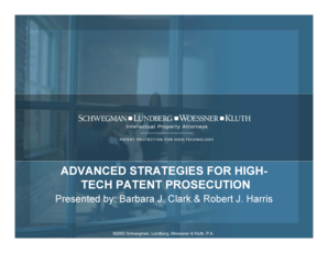 ADVANCED STRATEGIES FOR HIGH- TECH PATENT ...
