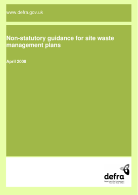Non-statutory guidance for site waste ... - ARCHIVE : Defra - archive defra gov
