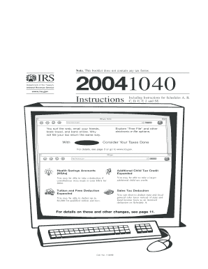 2004 Instructions for Form 1040 (ALL) - irs