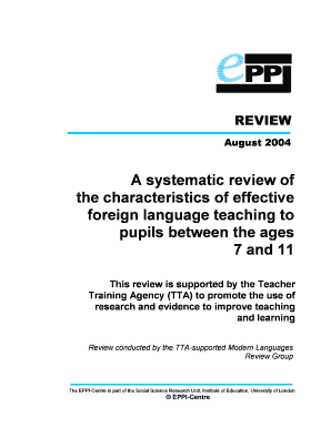 A systematic review of the characteristics of effective foreign ... - eppi ioe ac