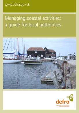 Managing coastal activities: a guide for local ... - ARCHIVE : Defra - archive defra gov