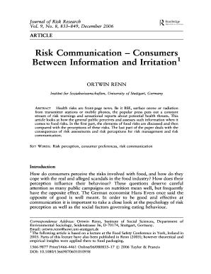 risk communication consumers between information and irritation pdf