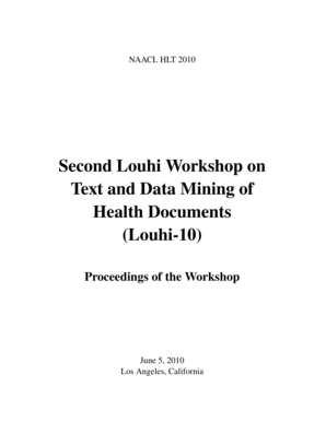 Proceedings of Louhi'10: The Second Workshop on Text and Data ... - aclweb