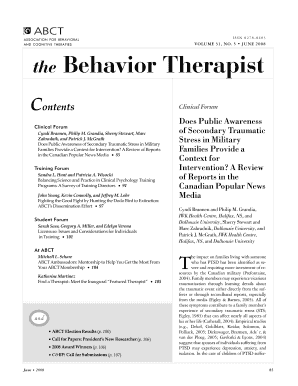 The Behavior Therapist - ABCT Association for Behavioral and ... - abct
