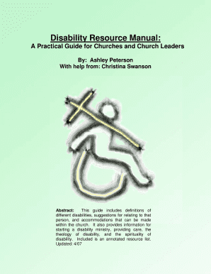 Disability Resource Manual : - covchurch