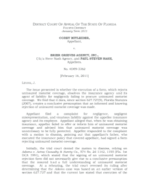 4D09 - 3362 -Mitleider v. Brier Grieves Agency, Inc - Fourth District ... - 4dca