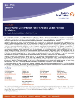 Download the bulletin ( PDF ) - Fasken Martineau