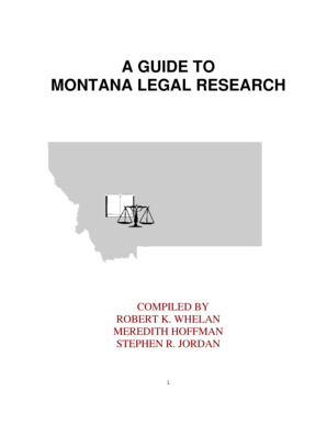 Guide to Montana Legal Research - Montana Courts - montanacourts