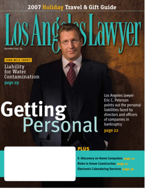 Los Angeles Lawyer December 2007 - lacba