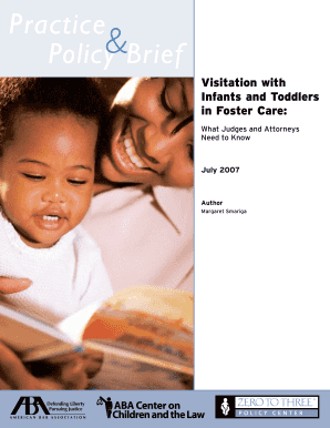 visitation for infants and toddlers form