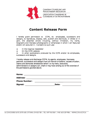 content release form