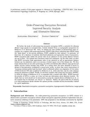 order preserving encryption revisited improved security analysis and alternative solutions form