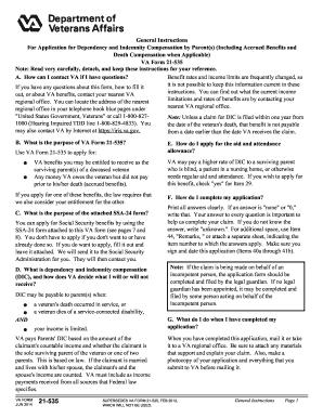 Va Form 21 535 - Fill Online, Printable, Fillable, Blank | PDFfiller