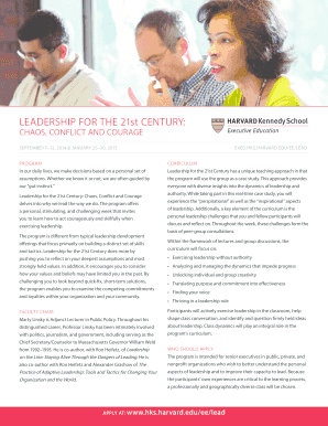 Leadership for the 21st century: - Executive Education - Harvard ... - ksgexecprogram harvard