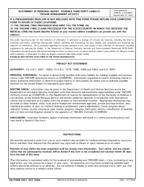 2004 Form Dd 2527 Fill Online Printable Fillable Blank Pdffiller
