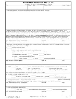 Da 2627 Form - Fill Online, Printable, Fillable, Blank | PDFfiller