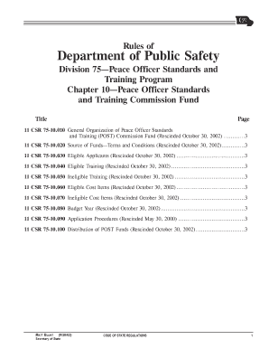 rules department public safety division 75 chapter 10 rescinded october 30 2002 form