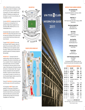 InFOrmAtIOn GuIDe 2011 - Chicago Bears