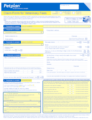 Generic Petplan Claim Form - Fill Online, Printable, Fillable ...