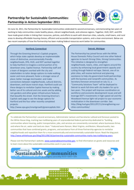 Partnership for Sustainable Communitie Sustainable Communities : - sustainablecommunities