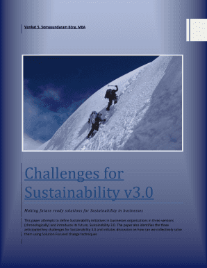Challenges for Sustainability v3 . 0 in Businesses - Fry The Monkeys