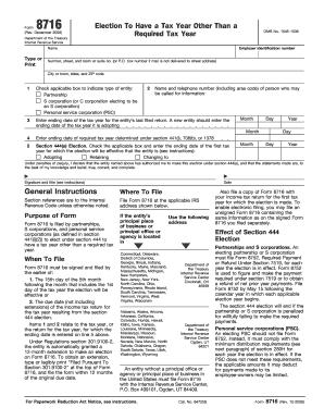 Form 8716 - Fill Online, Printable, Fillable, Blank | PDFfiller