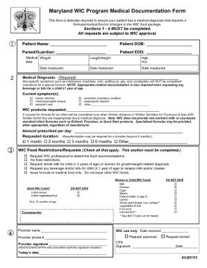 maryland wic form