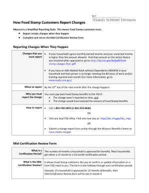 Food Stamp Review Form Fill Online Printable Fillable Blank