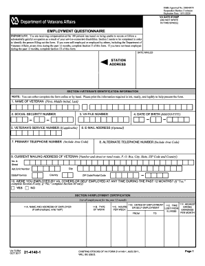 2005 Form VA 21-4140-1 Fill Online, Printable, Fillable, Blank ...