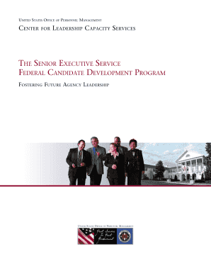 DEVELOPING LEADERS FOR THE SENIOR EXECUTIVE SERVICE - opm