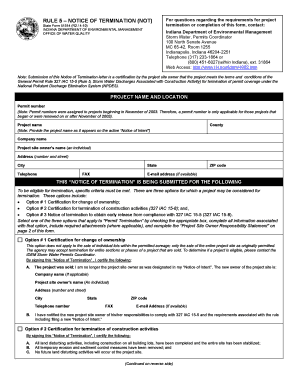 letter of termination form