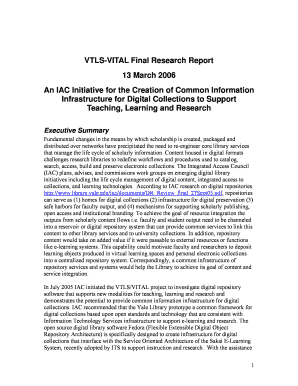 VTLS-VITAL Final Research Report 13 March 2006 An IAC Initiative ... - library yale