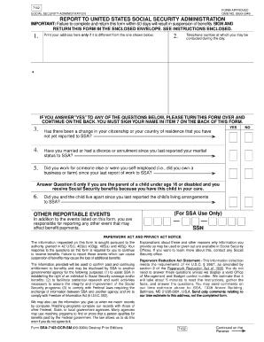 Ssa Form 7161