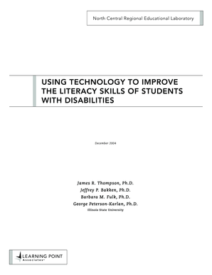 Using Technology to Improve the Literacy Skills of Students with ... - learningpt