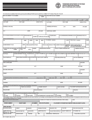 Tennessee Application Form - Fill Online, Printable, Fillable ...