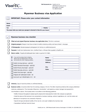Visa Myanmar How To Fill Out Fill Online Printable Fillable Blank Pdffiller