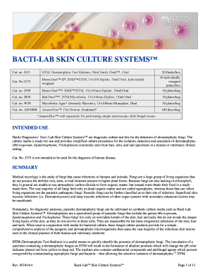 bactilab skin culture systems form